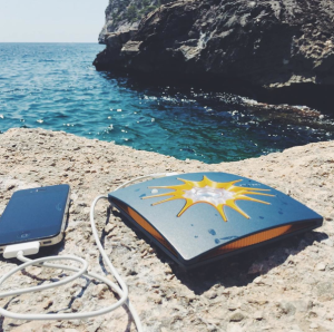Solar phone charger; solar powered phone charger; smartphone solar charger; renewable solar energy product; B Corporation